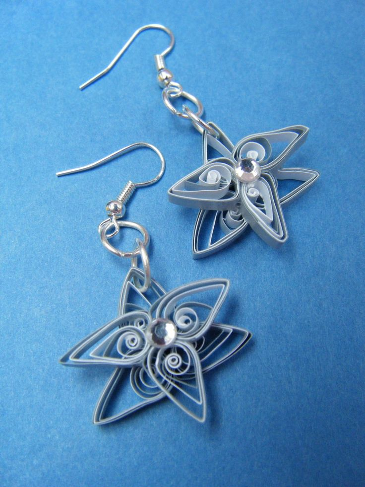 Quilling Earrings Basic Designs : 3136 best images about Quilling-Jewelry on Pinterest Paper, Flower earrings and Quilled roses