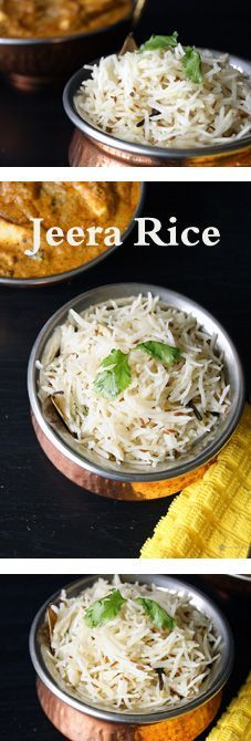 Jeera Rice - A simple and super flavorful Indian rice. Jeera is known to improve digestion and heal minor stomach ailments. It is best when paired with a spicy Indian gravy.