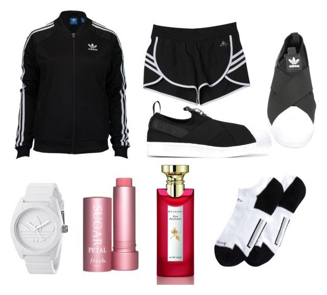 """Adidas on point"" by firyall on Polyvore featuring adidas, adidas Originals, Bulgari and Fresh"