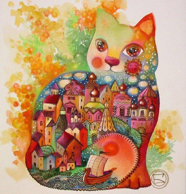 """Chat mimosa"" par Oxana Zaika"