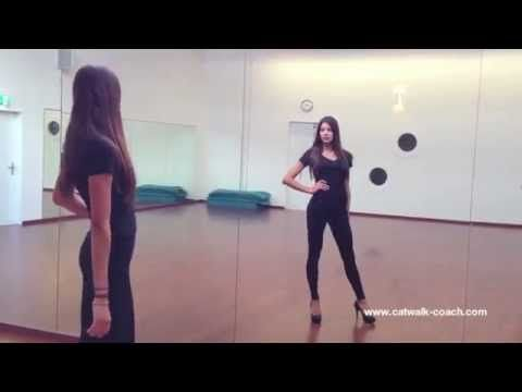 How to walk like a model - Before and After - Elite Model Look Finalist Nadine Keller - YouTube