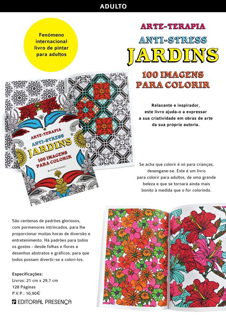 Jardins – 100 imagens para colorir  Colorir para Adultos