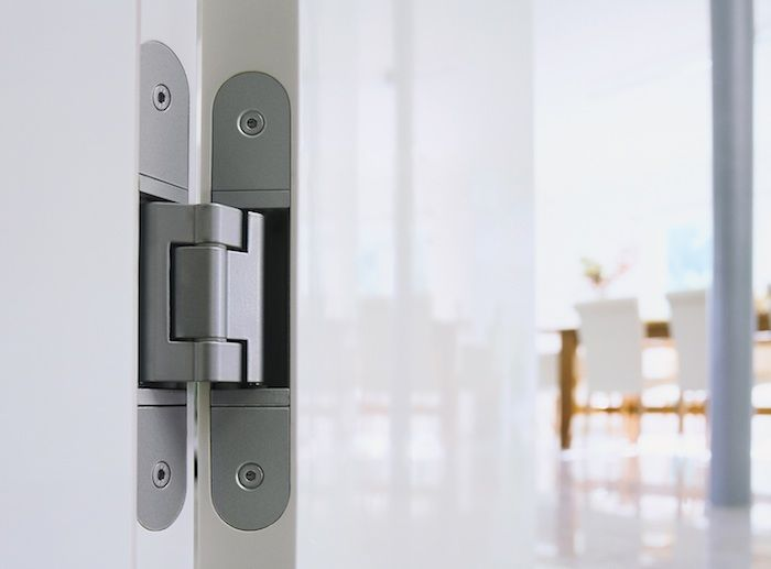 Concealed door hinges    Was inspired by Remodelista and thought of you!