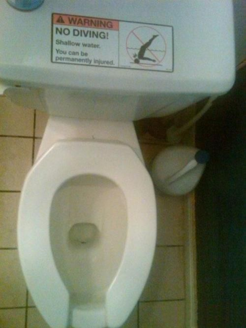 I hear CA law will require this posting on all toilets public & private.
