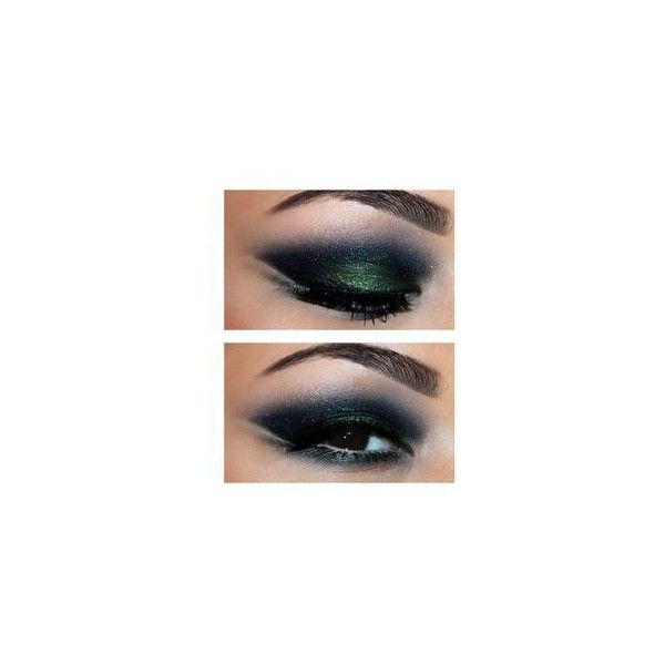Black Smokey Arabic Makeup By فاطمة ه ❤ liked on Polyvore