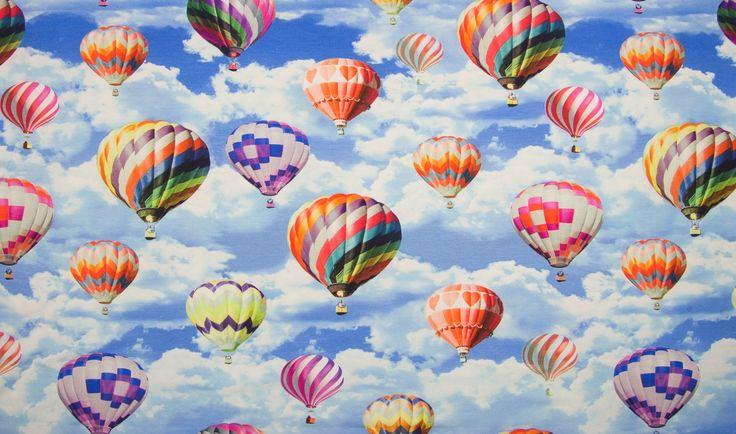 Tyg med luftballonger dig
