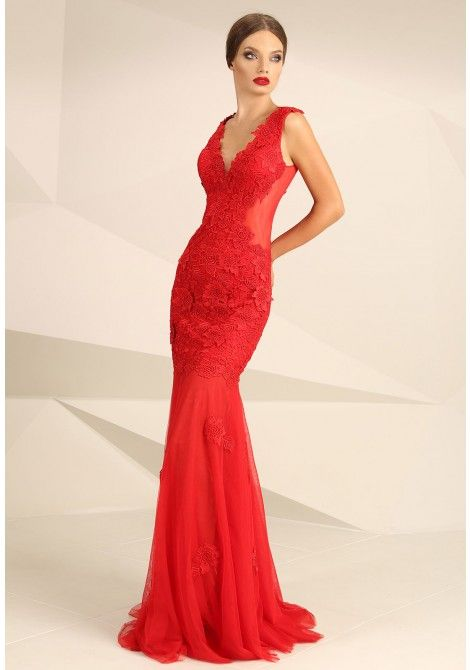 Nataliya Couture Mia-Bella Dress in Red