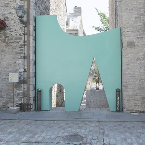 Fontaine/Fortin/Labelle creates Pomo-inspired entrance to Quebec passageway