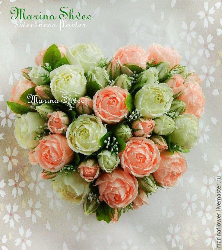 Картинки по запросу цветы из конфет сердца