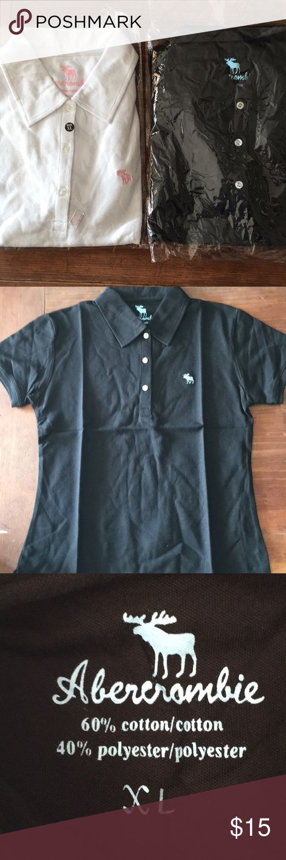 Abercrombie T-shirts Brand new still in plastic never worn one is black with blue moose other is white with pink moose. Polo shirts Abercrombie & Fitch Shirts & Tops Polos
