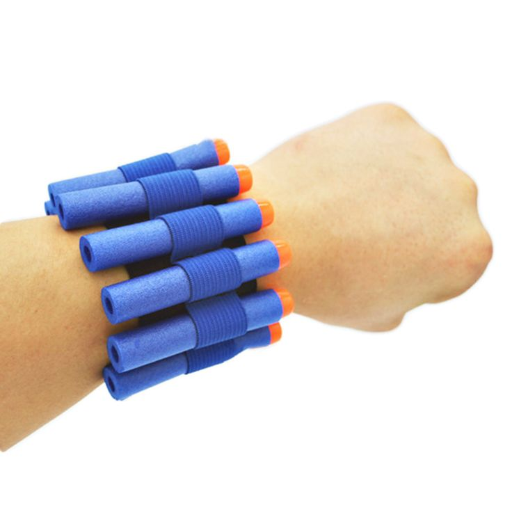 Gun Wristband Nerf Gun softbullet Can Hold Holer soft bullets player Outdoor game in arena arm belt band Hunting Gun Accessories