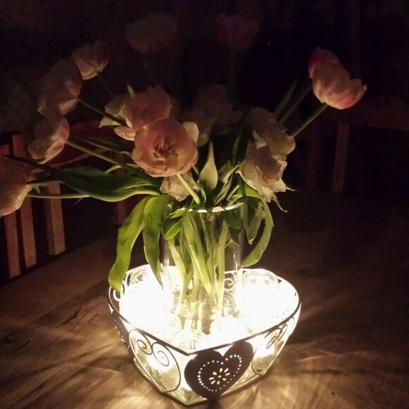 Pretty flowers/ candels
