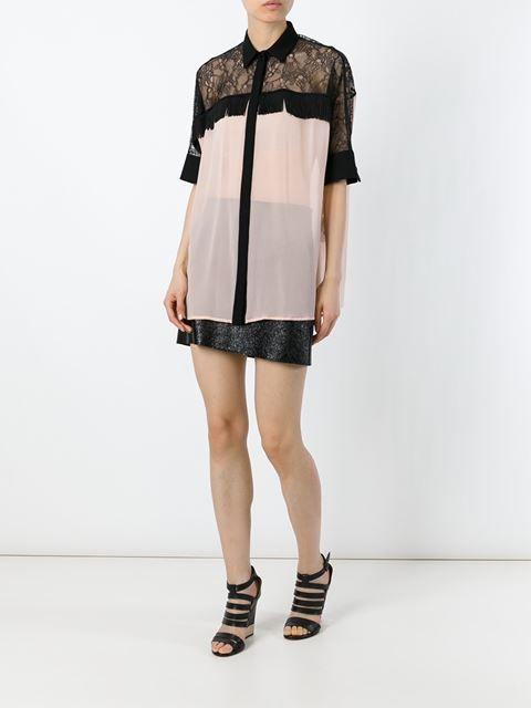 Versace рубашка с бахромой