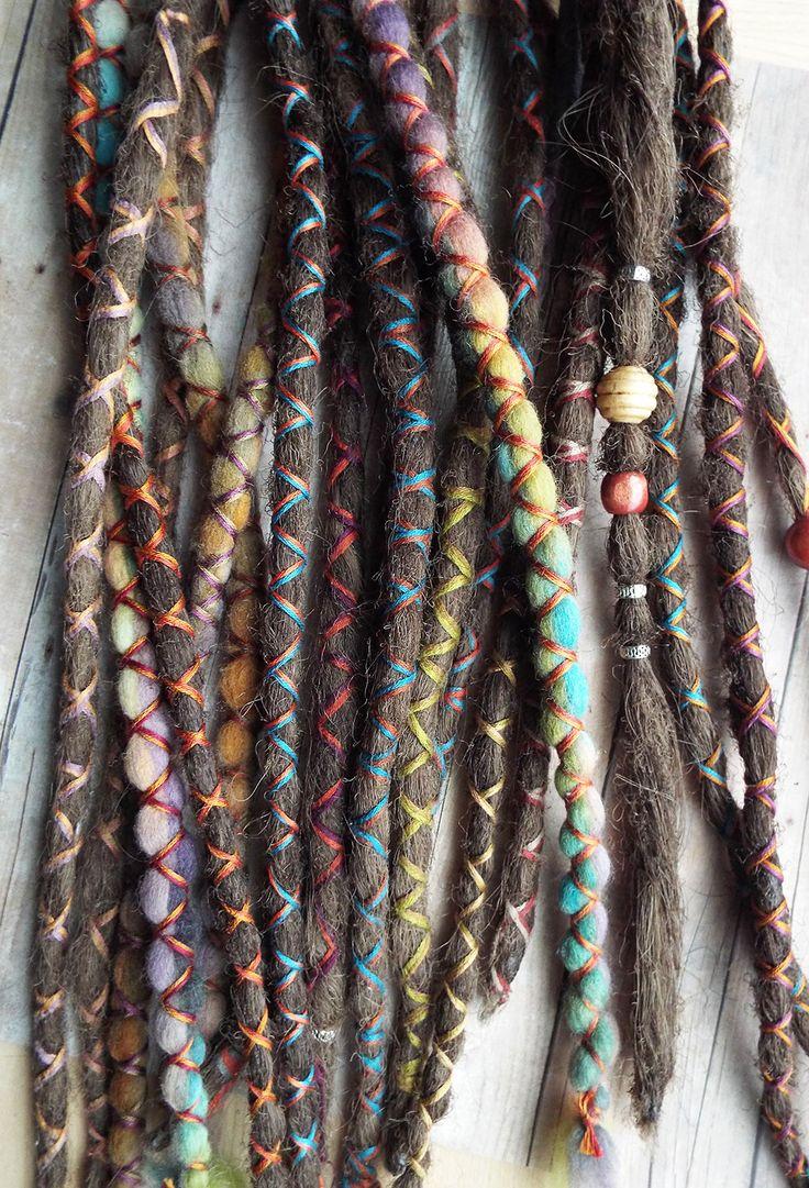 10 Custom Dreads Hair Wraps & Beads Bohemian by PurpleFinchStore, $70.00