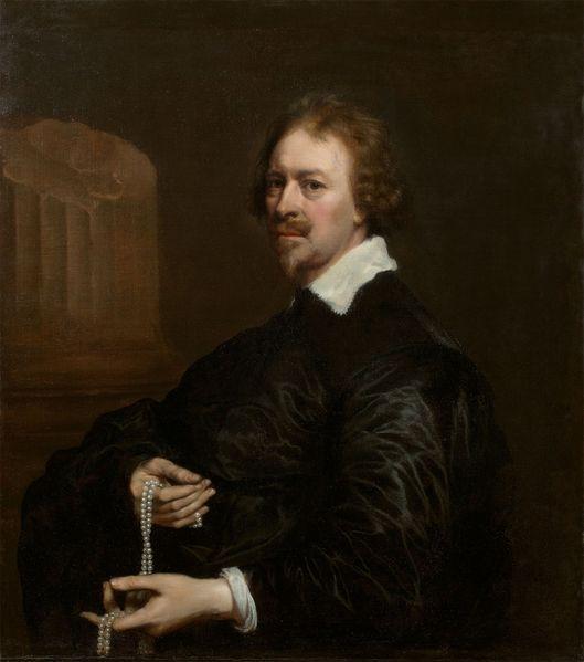 Adriaen Hanneman 1603/04 – Den Haag – 1671 Portrait eines Juweliers – wohl eines Sohnes von Nicasius Roussel, des Hofjuweliers von König Charles I. von England. 1636 Öl auf Leinwand. 88,5 × 82 cm