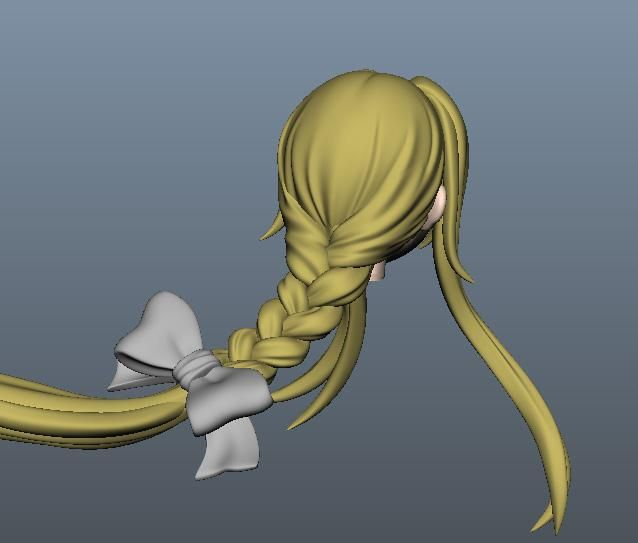 3d anime braid zbrush