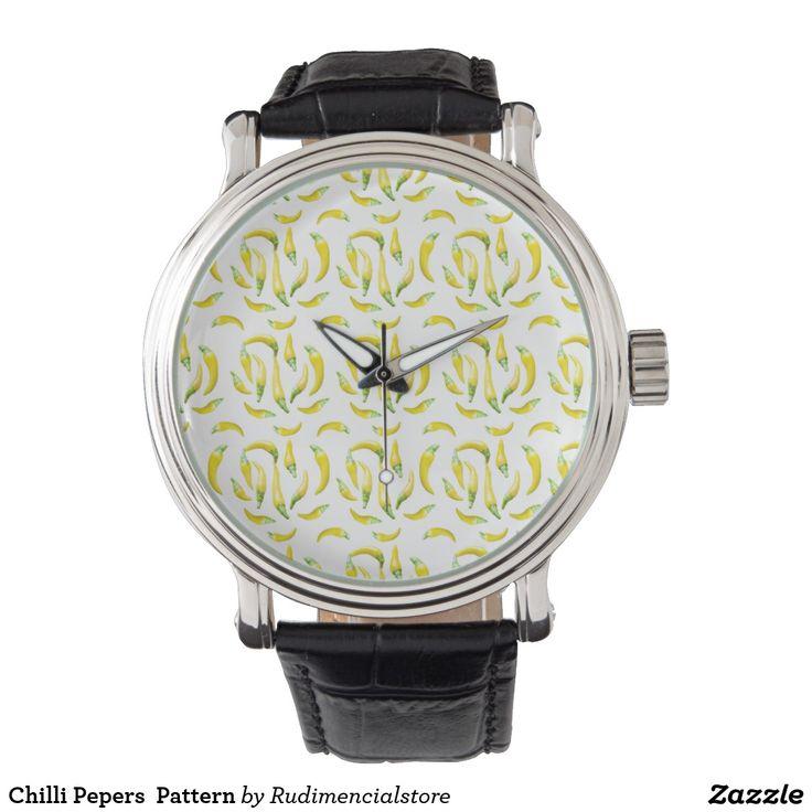 Chilli Pepers  Pattern Wrist Watch
