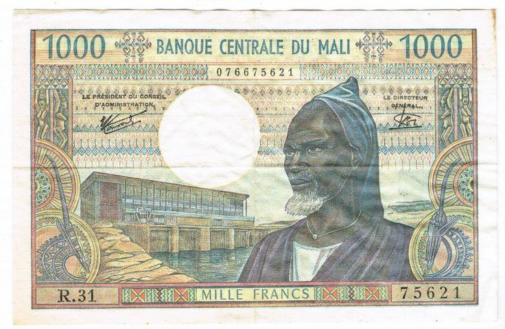 Mali, 1000 Francs, 1970-84