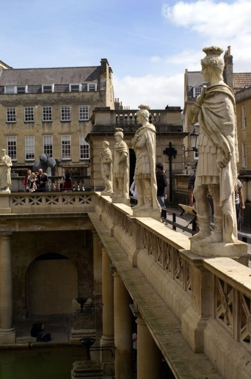 The Roman Baths, Bath, UK...I'd like to see this.