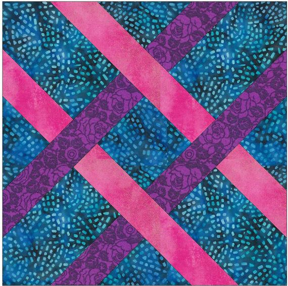 Simple Celtic Knot Chain Paper Piece Templates Quilting Block Pattern Simple, Paper and Quilting