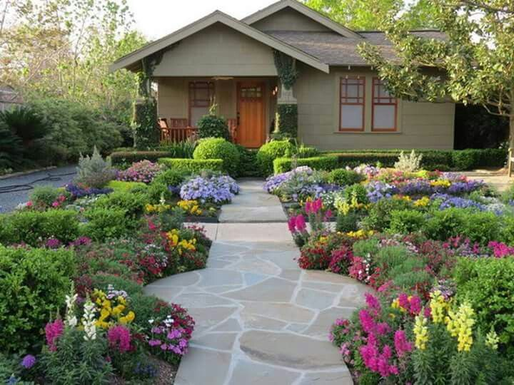 Ideas For A Front Garden lush landscaping ideas for your front yard hgtv Find This Pin And More On Landscaping Ideas No Grass Front Yard