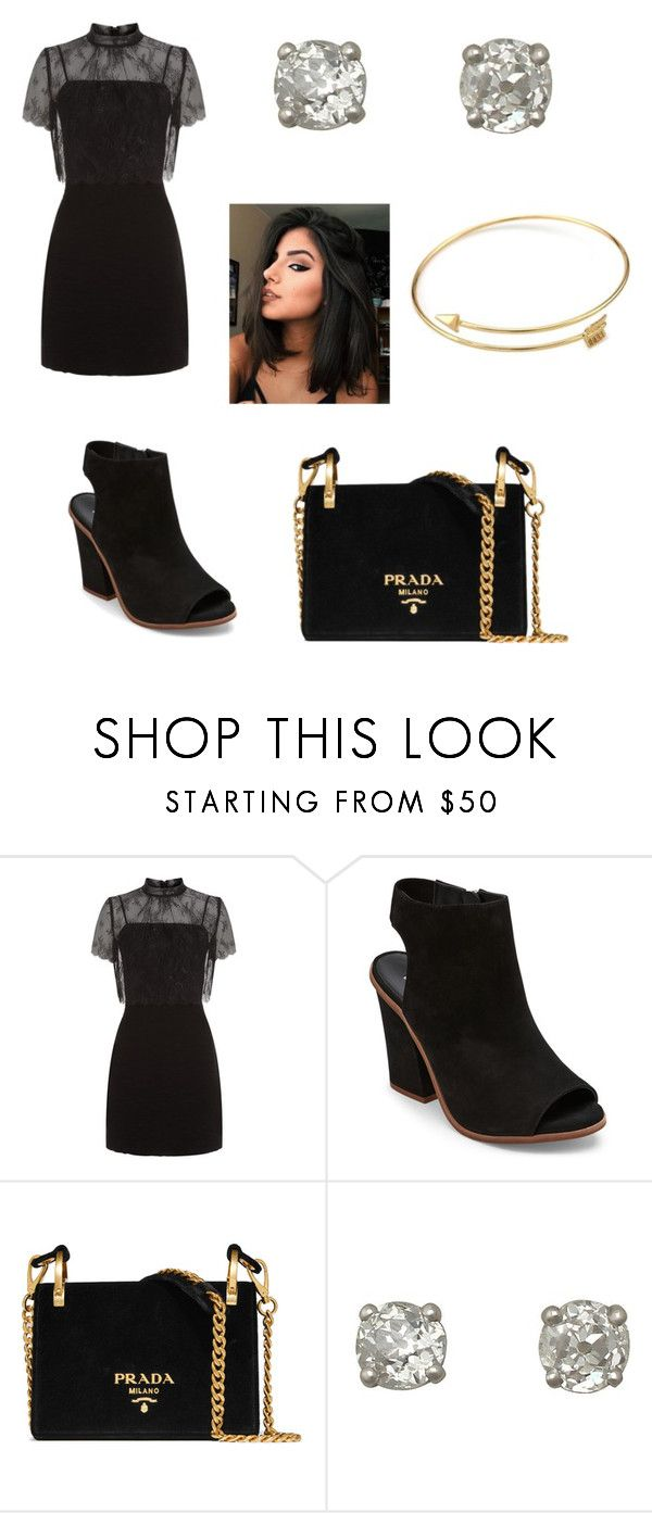 """Untitled #225"" by denysa-boldog on Polyvore featuring Sandro, Steve Madden and Prada"