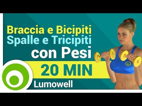 Snellire e Tonificare le Braccia in 15 Minuti - Esercizi con Pesi da Fare a Casa - YouTube