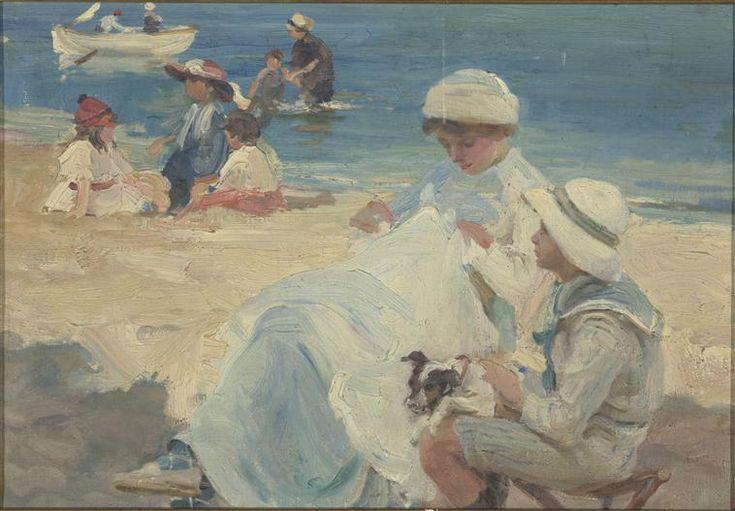 """""""La plage"""" de Timothée-Michel-Paul Dupuy (1869-1949). Paris, musée d'Orsay - Photo (C) RMN-Grand Palais (musée d'Orsay) / Hervé Lewandowski"""