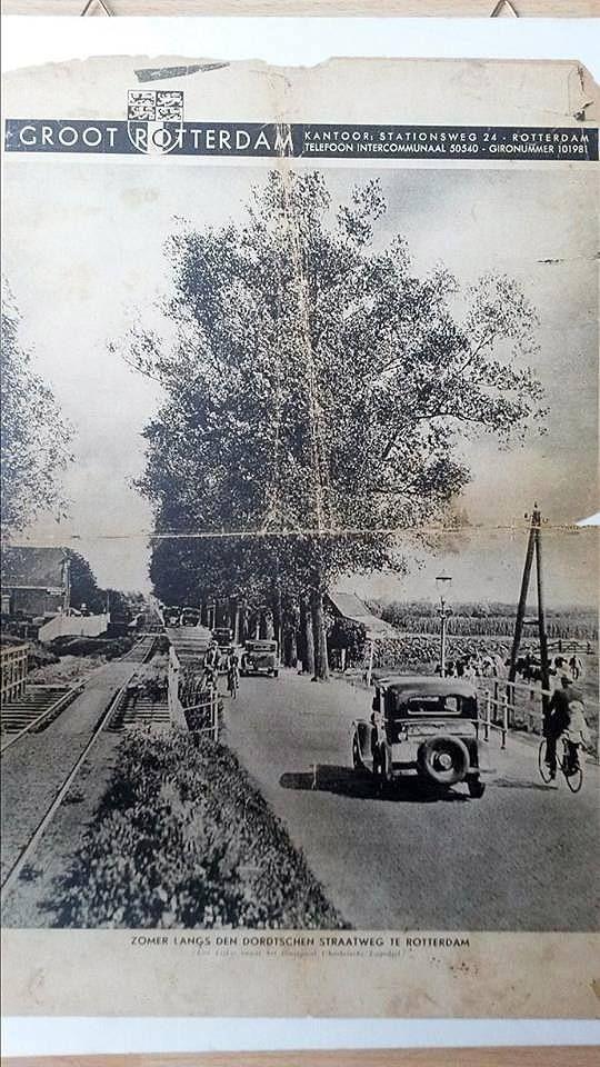 """Dordtschen Straatweg, Het plaatje is van vòòr 1934. met """"Moordenaartje"""" richting Oostvoorne strand."""