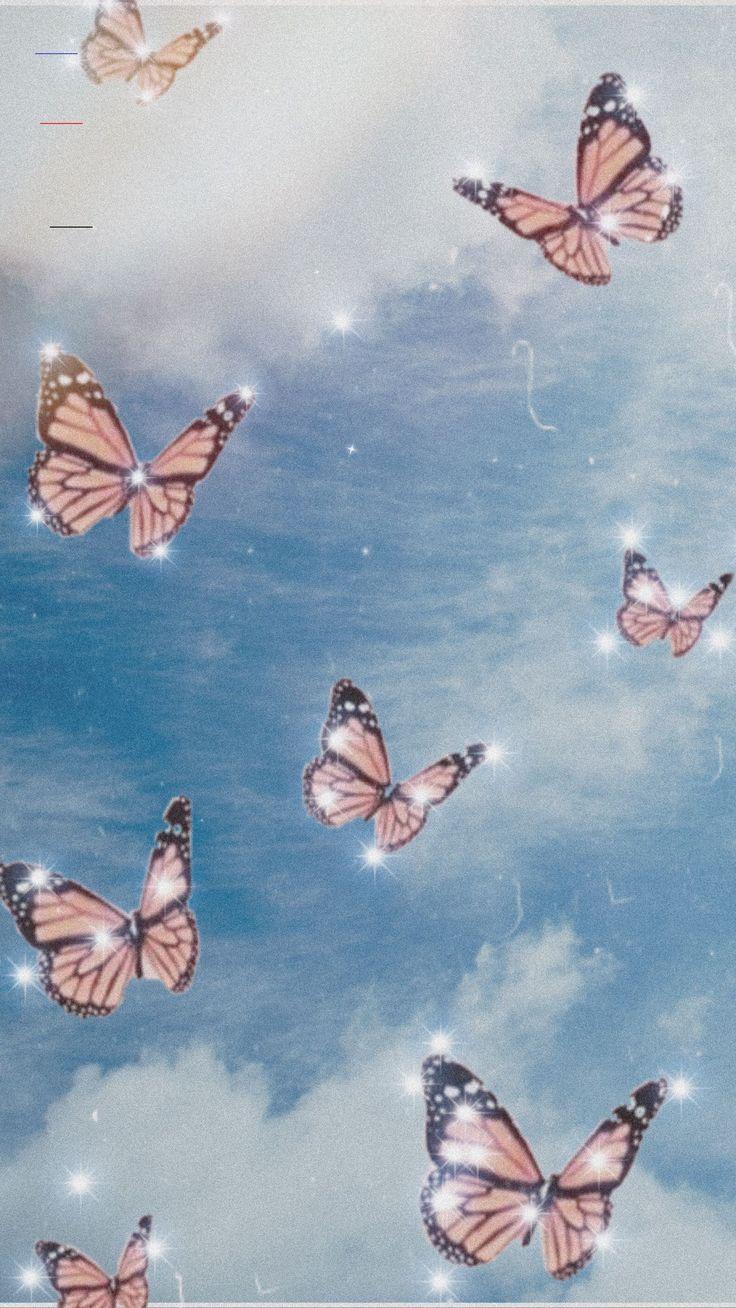 aesthetic lockscreen butterfly iphone pantalla fondos wallpapers pastel emoji vsco mariposas morados patterns backgrounds astethic room september unbelievable floyd coolcarsblog