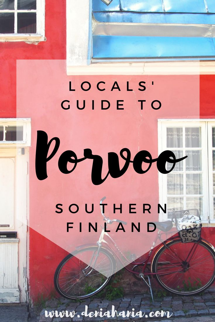 Porvoo is a charming town in the southern Finland, only 50 km away from Helsinki! Find out what to do there according to tips of a local! www.deniahania.com