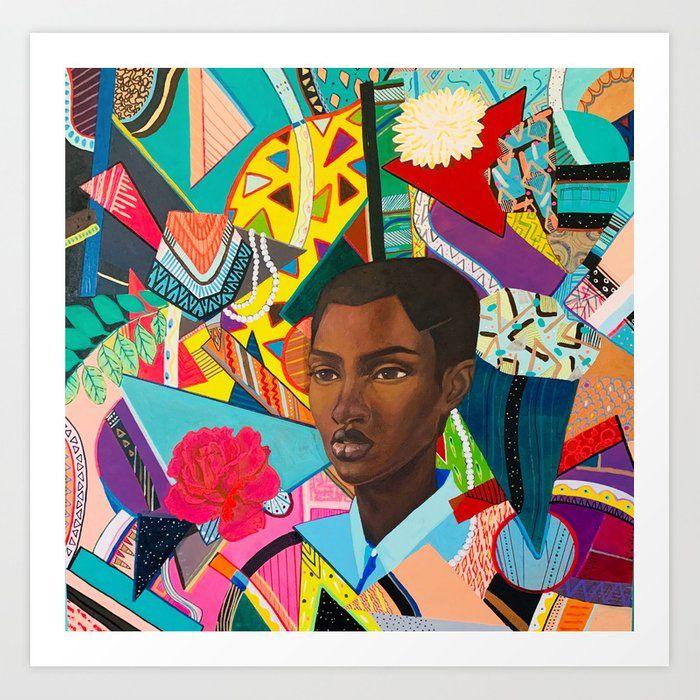 Life In Chaos And Peace Art Print Peace Art Black Artists Mini Art