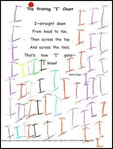 kindergarten handwriting