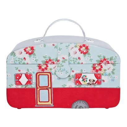 Bright Pop Caravan Sewing Box Cathy Kidston collection for my glamping trailer