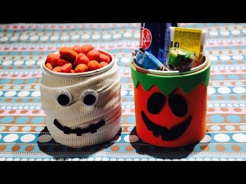 DIY Dulceros para Halloween parte 1 / Confectioners for Halloween part 1 - YouTube