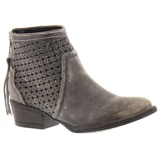 Very Volatile Namaste Women's Grey Boot 7 M ($99) ❤ liked on Polyvore featuring shoes, boots, ankle booties, grey, zipper ankle boots, zipper bootie, grey booties, ankle boots and zip ankle boots