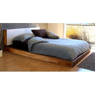 i love this low bed and the simplicity of it - Low Rise Bed Frame