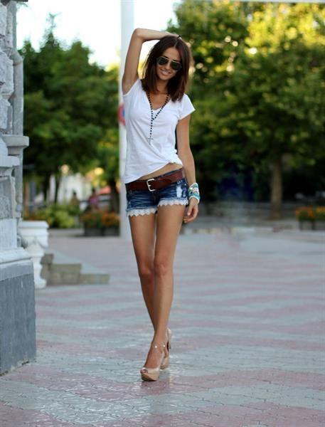 Переделать джинсы в шорты фото