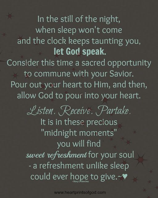 Heartprints of God: Midnight Moments~<3