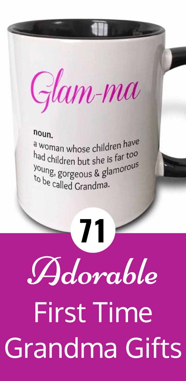 Cute first time Grandma gifts are perfect for the new grandmother!  Choose from funny or sentimental gifts for the first time Grandma.