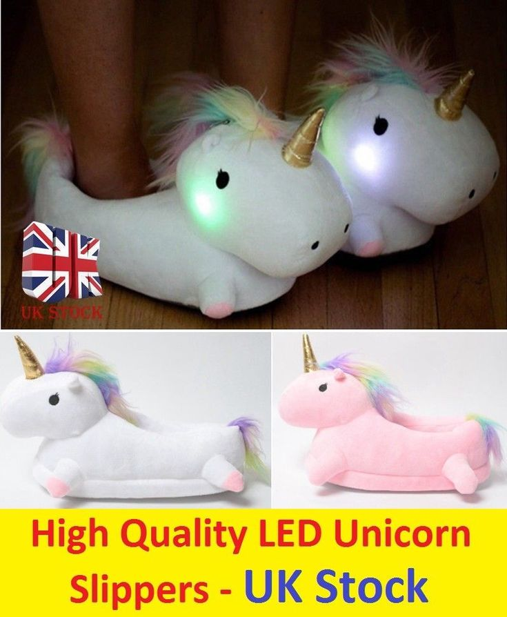 LED Light Up Unicorn Slippers Lovely Soft Plush Fluffy Winter Indoor Girls Shoes | Abbigliamento e accessori, Donna: scarpe, Pantofole | eBay!