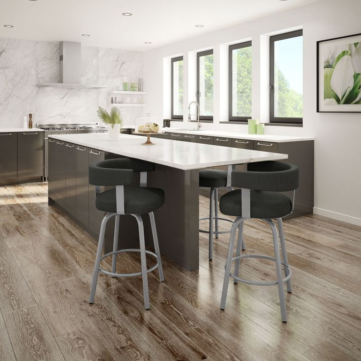 Bar stools made in Canada. Choice of metal finish and fabric    Furniture Toronto - 700 Kipling ave, Etobicoke   #barstool #barsools #furnitureToronto #torontofurniture