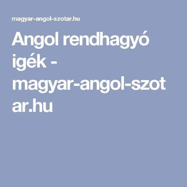 Angol rendhagyó igék - magyar-angol-szotar.hu