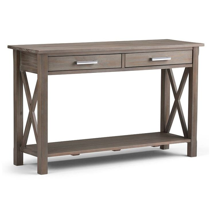 Amazon Com Simpli Home 3axcrgl003 Gr Kitchener Solid Wood 47 Inch Wide Contemporary Console Sofa Table In Distressed Grey Simpli Home Sofa Table Wood Console