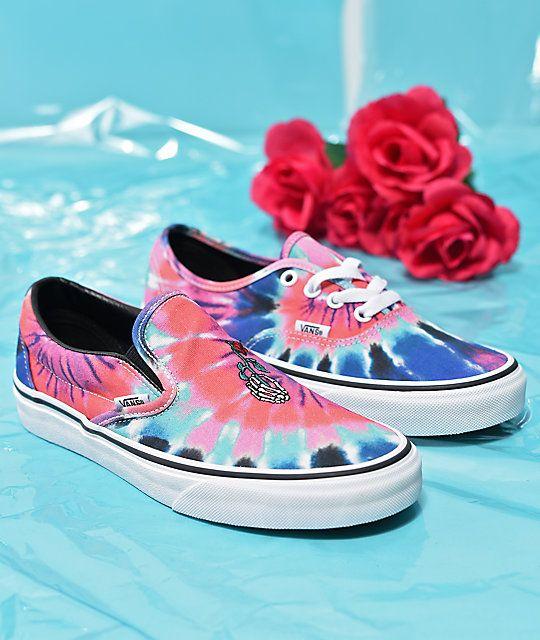 e270b8edfca5 Vans Slip On Tie Dye Skate Shoes in 2019