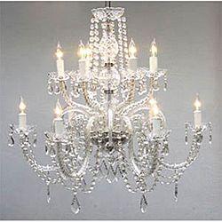 Gallery Venetian-style All-crystal 12-light Chandelier
