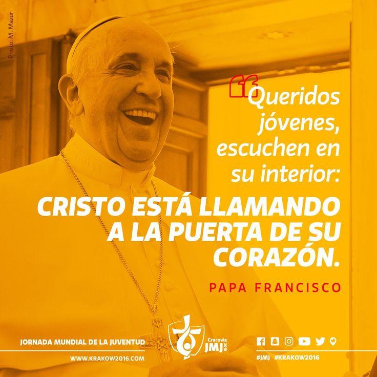 "JMJCracovia2016 on Twitter: """"Cristo está llamando a la puerta de su corazón"". https://t.co/uAeDsRqQck"""