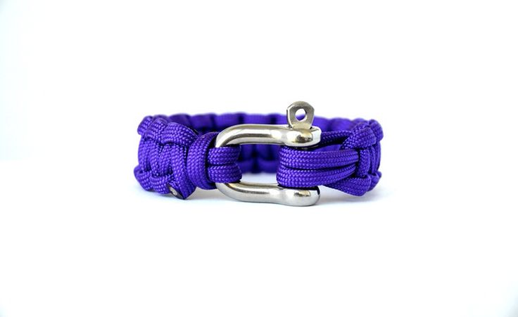 Acid Purple // Paracord Survival Bracelet | Purple represents royalty, power, luxury and ambition. This purple band possesses a luminous quality and remains a classic pairing piece for any outfit choice. The colour is both practical and aesthetically pleasing. It has proven to be a wonderful choice to contrast colours for any individual.  #Paracord  #FunctioningWithStyle #BeaconLaunch2015
