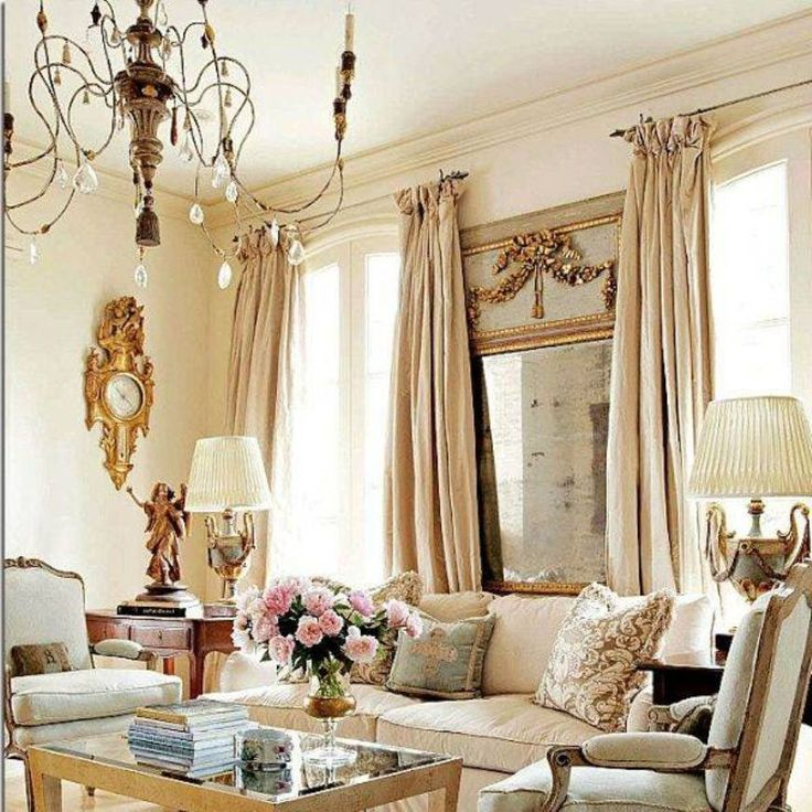 French Living Rooms Pinterest