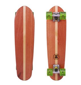 The little stripper is crafted from strips of Rose Gum and Hoop Pine into the form of a classic styled mini cruiser board. www.dandfboards.com.au